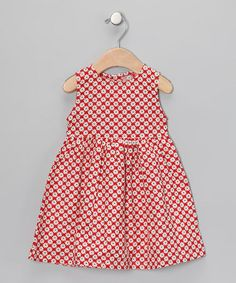 Take a look at this Red & White Daisy Dot A-Line Dress - Infant, Toddler & Girls by Deezo on #zulily today!