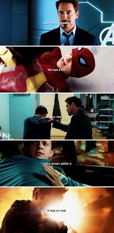 Imagine Tony going to Pepper after Peter dies and saying 'We had a kid....' 😭