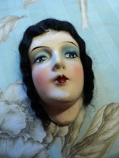 Lovely Art Deco Boudoir Doll Head Flapper Anita Perfect Condition Pillow Molded…