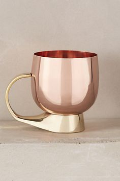 Moscow Mule Mug by Anthropologie in Copper Size: Mug/cup Mugs from Anthropologie. Saved to Epic Wishlist. Copper Rose, Rose Gold, Copper Kitchen, Kitchen Dining, Mug Cup, Moscow Mule Mugs, Decoration, Tea Pots, Coffee Mugs