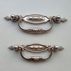 French Shabby Chic Bail Dresser Drawer Pulls Handles/ Antique Silver Drop  Kitchen Cabinet Pull Handle Knobs Furniture 96 By JackAccessories On Etsy
