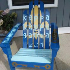 Kappa krafty! Made this for my sorority house at UConn :)
