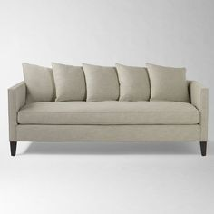 Dunham Down-Filled Sofa - Toss Back | west elm possible living room