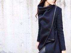 signature avant garde multi layered coat by ProjectForSunday