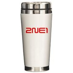 T-shirts, hoodies, baby clothes, cell phone cases, mugs, bags and over 100 other products with this design at: http://www.cafepress.com/2ne1z/9595355  2NE1 logo 3000-500 Ceramic Travel Mug
