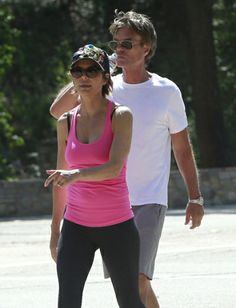 Fit couple Lisa Rinna and husband Harry Hamiln power walk in West Hollywood. Celebrity Fitness, Celebrity Workout, Radar Online, Lisa Rinna, Celebs, Celebrities, West Hollywood, Stay Fit, Husband