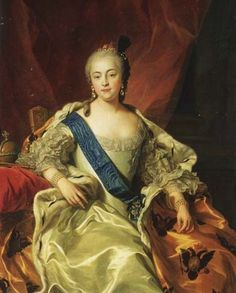 Empress Elizabeth by Charles van Loo (Peter Palace, Pushkin Russia) | Grand Ladies | gogm
