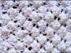 Como Tejer Punto Garbanzo Popcorn Stitch 2 agujas (12) Pontos De Trico  Receitas 4d6b2276af6
