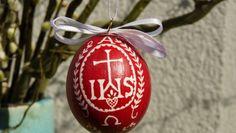 Ei mit christlichem Motiv Christmas Bulbs, Holiday Decor, Handarbeit, Creative, Christmas Light Bulbs