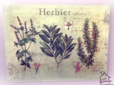 """Tela Provenzale """"Herbier"""" 40x30 Angelica Home&Country"""
