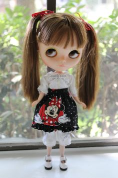 Minnie Mouse Outfit set for Blythe by MotaDeAlgodon on Etsy
