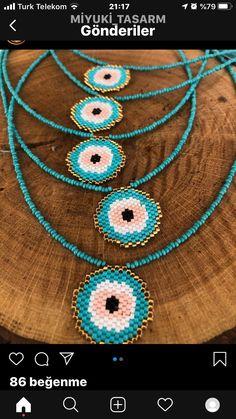 Brick, Crochet Earrings, Gemstones, Beads, Accessories, Jewelry, Bracelets, Eye, Greece