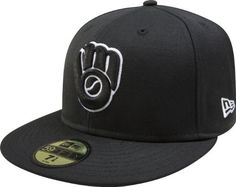 MLB Milwaukee Brewers Cooperstown Black with White 59FIFTY Fitted Cap by New  Era.  24.49. ace9349c8f6e