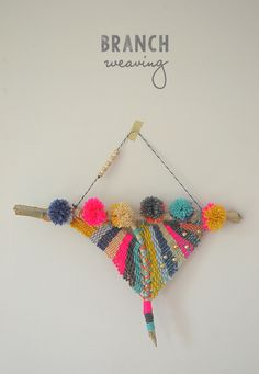 "Collect ""Y"" shaped branches and turn them into beautiful weavings. Tutorial and video included."