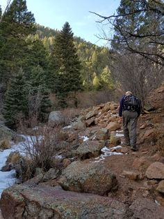 Hiking in Stanley Canyon in Jan.  #Hiking, #Colorado, @campwildride, I Love Outdoor Camping