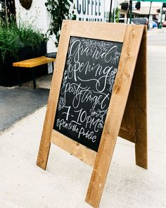 calligraphy & floral illustrations on chalkboard
