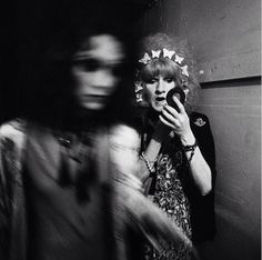 Backstage with a couple of the cockettes 1971