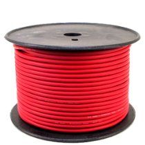 GLS AUDIO Bulk Microphone Cable 300' Red Mic -300ft Signal mike cable