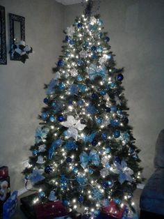 Blue and sliver Christmas tree