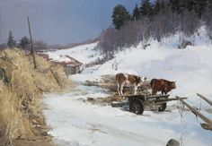 "Artist : Rick Huang Chinese Painter.""Winter Landscapes"""