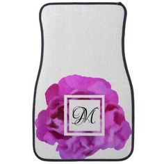 Floral Rose White Pink Purple Car Mat Set - purple floral style gifts flower flowers diy customize unique