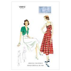 Amazon.com: Vogue Patterns V8812 Misses Dress, Belt and Bolero, Size A5 (6-8-10-12-14): Arts, Crafts & Sewing