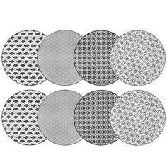 Vancasso HARUKA 8pcs Assiettes Plates Rond Porcelaine 27cm Plat Service de Table Vaisselles 4 Motifs Style Japonais Asiatique - Achat / Vente assiette - Cdiscount