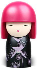Seiko - Kimmidoll collection dandelion clocks on black kimono
