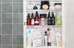 There are at least four La Roche-Posay products in Michelle Violy Harper's medicine cabinet!