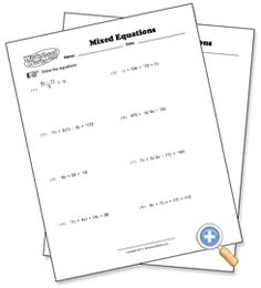FREE Solving Multi-Step Equations Riddle Worksheet