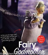 KNITTING PATTERN ALAN DART TOY FAIRY GODMOTHER DOLL FAIRYTALE TO KNIT