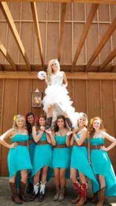 Cheer/country wedding