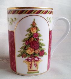 Royal Albert Old Country Roses Seasons of Colour Coffee Mug Cup Red White Green   eBay