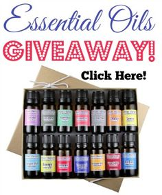 Enter to win a Plant Therapy 14 Essential Oil Set from Natural Family Today, a $55 value!