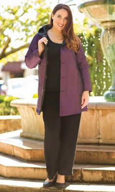 REVERSIBLE QUILTED COAT / Plus Size Fashion for Women / On the Plus Side / Winter Fashion http://www.makingitbig.com/product/reversible-quilted-coat