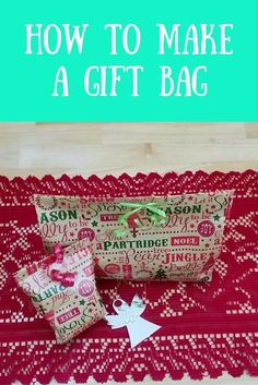 Make a gift bag with wrapping paper. Perfect for any non- square presents this Christmas!!