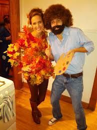 bob ross happy little tree costume