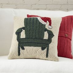 You'll love the Christmas Adirondack Hooked Pillow at Birch Lane - With Great Deals on all products and Free Shipping on most stuff, even the big stuff.