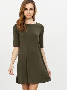 Shop Army Green Half Sleeve Casual Dress online. SheIn offers Army Green Half Sleeve Casual Dress & more to fit your fashionable needs.