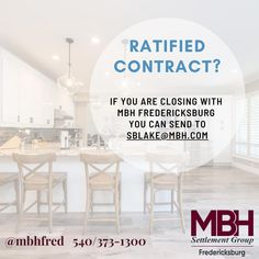 You all had a busy weekend!! Congratulations on your new contracts 🏡 🥂   Now it's time to get the ball rolling and that means sending your contract to your title company - Hopefully us!  𝗪𝗵𝗮𝘁 𝗱𝗼 𝘄𝗲 𝗻𝗲𝗲𝗱 𝗳𝗿𝗼𝗺 𝘆𝗼𝘂? 🏠 Contract & all addendums 🏡 Lender's contact info (we will reach out to them) 🏘 Your clients contact info (emails for each & phone #s)  𝗪𝗵𝗲𝗿𝗲 𝘀𝗵𝗼𝘂𝗹𝗱 𝘆𝗼𝘂 𝘀𝗲𝗻𝗱 𝗲𝘃𝗲𝗿𝘆𝘁𝗵𝗶𝗻𝗴 𝗳𝗼𝗿 𝗠𝗕𝗛 𝗙𝗿𝗲𝗱𝗲𝗿𝗶𝗰𝗸𝘀𝗯𝘂𝗿𝗴? 🏘… Meant To Be, Congratulations, How To Get, Group, Phone, Business, Telephone, Store, Business Illustration
