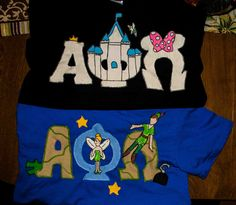 Disney and Peter Pan themed APO letters