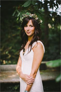 Casual bridals with halo and loose curls. #wchappyhour Captured By: Jordan Quinn Photography ---> http://www.weddingchicks.com/2014/05/24/wedding-chicks-happy-hour-4/
