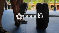 #Athlete #Putting #Weight #Plates On A #Barbell #Weightlifting #Bar #Equipment #Training - Stock #Footage | by RyanJonesFilms