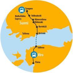 Express bussi Tampere - Pärnu Helsinki, Chart