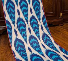 Cotton ikat fabric by the yards blue  100% soft cotton ikat