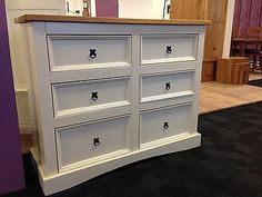 Corona Painted 3 Chest Of Drawers