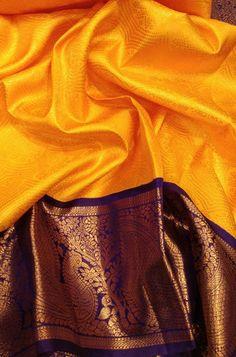Shop for Yellow Handloom Kanjeevaram Pure Silk Saree Online.Shop more Handloom Kanjeevaram Saree at Luxurionworld.