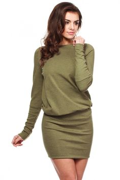 Sukienka Model MOE143 Khaki #modadamska #sukienkiletnie #sukienka