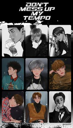 EXO TEMPO Exo Stickers, Exo Anime, Exo Fan Art, Exo Lockscreen, Fanarts Anime, Exo Memes, Exo Chanyeol, Wallpaper Iphone Cute, Gold Art