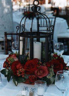 Rose w/ Candle Centerpiece